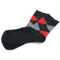 Kaiback Sweet Socks - Black & Red Argyle