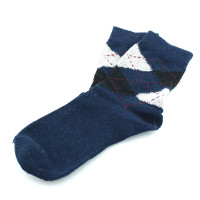 Kaiback Sweet Socks - Blue Argyle