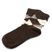 Kaiback Sweet Socks - Brown Argyle