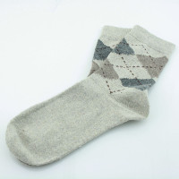 Kaiback Sweet Socks - White Argyle