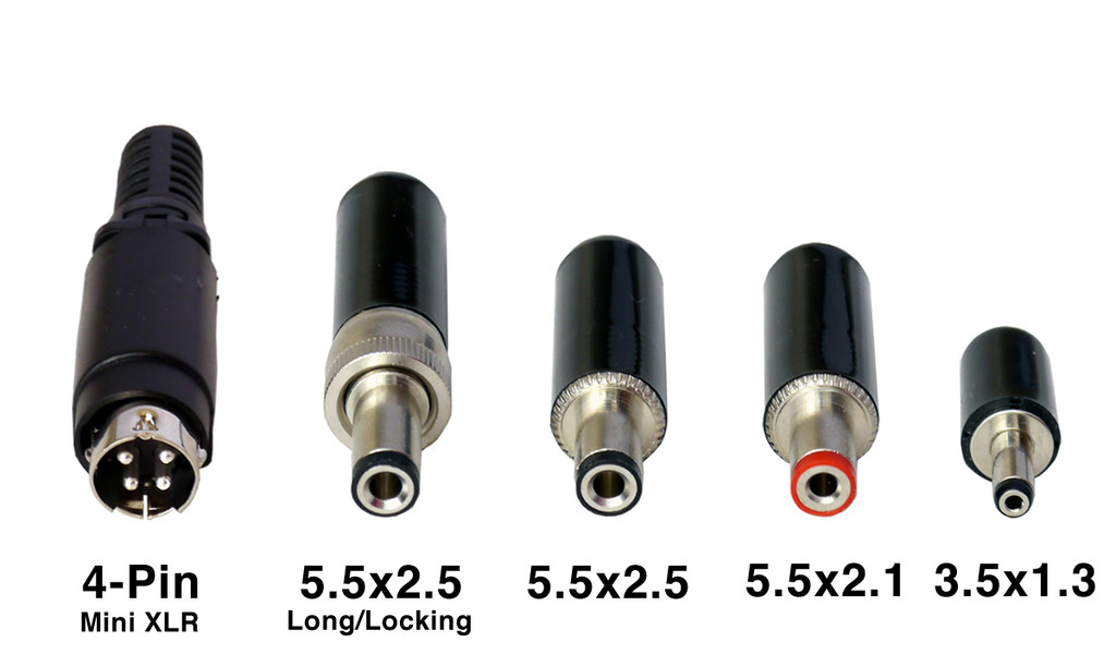 DC Plug Options and Sizes