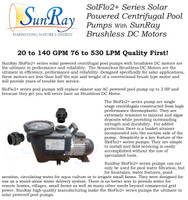 SunRay SolFlo4 - 8 Solar Panels 2kW Filter Pump Systems Solar Pool Pump 115GPM 60FT Head 3.5HP 3000RPM 240VDC Brushless Motor Complete
