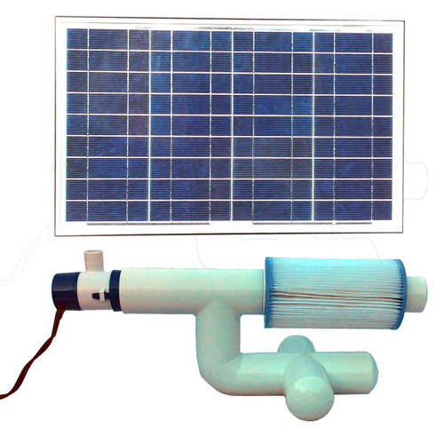 Bottom Feeder 5000 Gallon Pool or Spa 30-watt Solar Pump Type A Filter Cartridge System