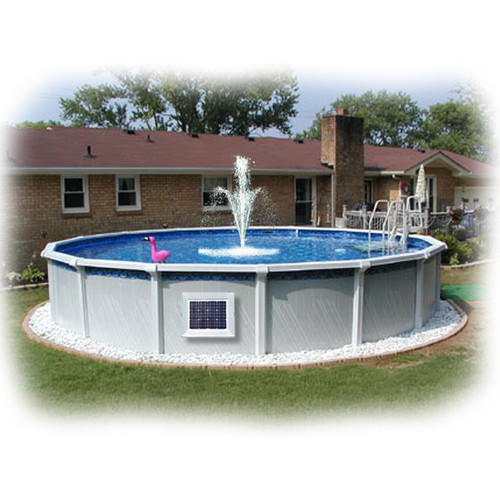 Above Ground Pool Magnet Wireless Power Fountain System 1