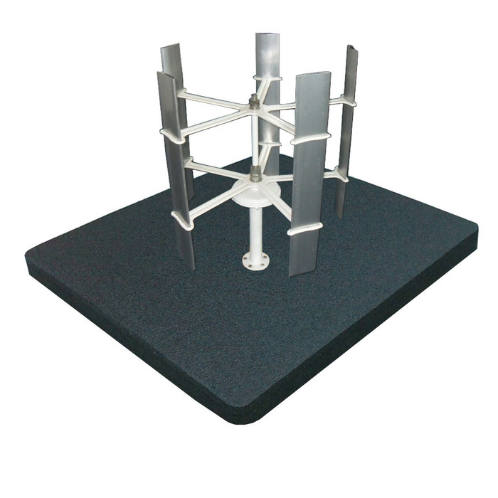 Floating Micro Vertical Wind Turbine 15w for Water Areas of Pool, Ponds, Lakes and Water Gardens 36-in L x 36-in W x 4-in H