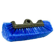 "Ideal for washing vehicles, boats and other surfaces. Fiber is staple set in an 7 3/4"" black poly flow-through block that accepts a threaded handle. Handle sold separately. Overall length: 11.25""; Trim: 2 1/2"" (1 3/4 side).Although this brush is recommended for use on all types of finishes, some may be more susceptible to scratching than others, always test in an inconspicuous area before use. Fits 5 gallon pail"