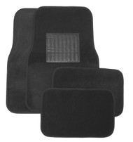 Deluxe 4 piece Black Floor Mat set.