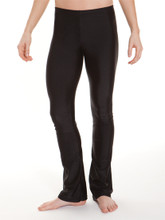 Sits below the waist Flared leg 83% nylon, 17% spandex