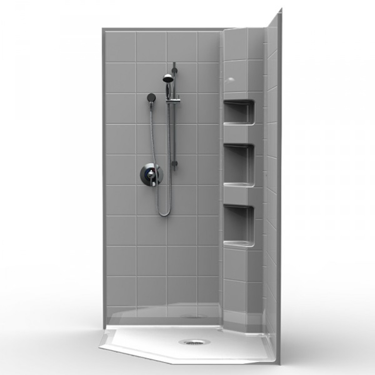 Neo Angle Barrier Free Shower · Wheelchair Access Corner Shower 42 ...