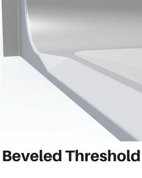 Roll In Shower Pan Beveled Threshold