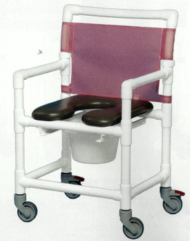 Mid Size Open Front Soft Seat Shower Chair