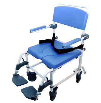 Extra Wide Shower Commode Wheelchair