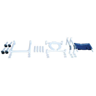 Knock Down Roll-In Shower Chair Disassembled