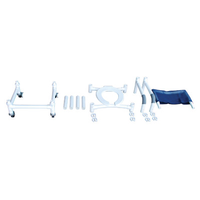 Knock Down Roll-IN Shower Chair Travel Ready