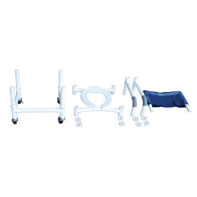 Knock Down Roll-In Shower Chair Partially Assembled