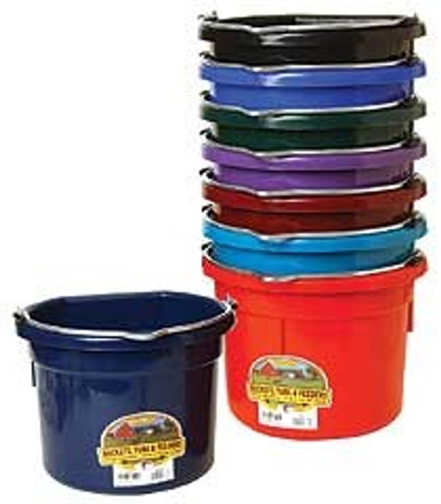 Flat Back Bucket, 8 Quart, Purple