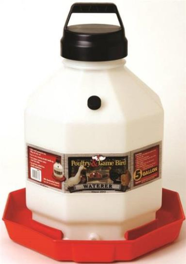 Poultry Waterer, 5 Gal, Plastic