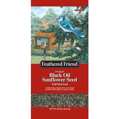 Feathered Friend Black Oil Sunflower Seed 40 Lb