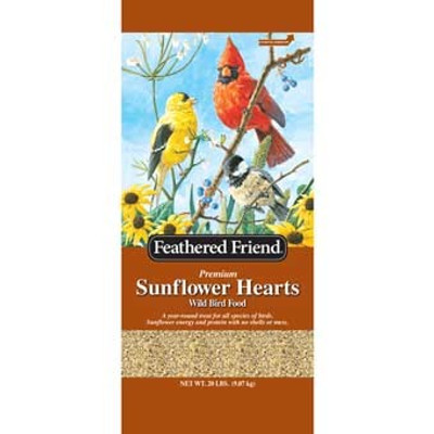 Feathered Friend, Sunflower Hearts, 20 Lb