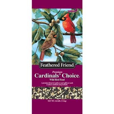 Feathered Friend, Cardinal's Choice Wild Bird Food, 16 Lb