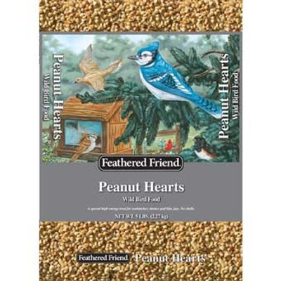 Feathered Friend, Peanut Hearts Wild Bird Food, 5 Lb