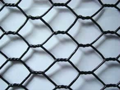 "Poultry Netting 1"" x 72"" x 150' Vinyl Coated Black 20 Ga"