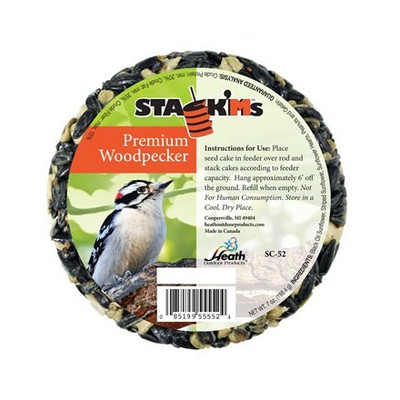 Heath Stack'Ms Wood Pecker Seed Cake, 7 Oz