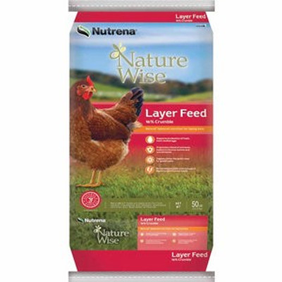 Nature Wise Layer Crumble Feed, 16%, 50 Lb