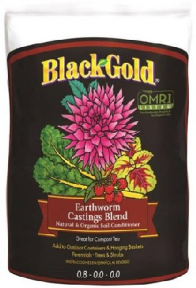 Black Gold Organic Earthworm Castings 16 Qt, OMRI Certified