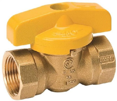 "Gas Ball Valve, 3/8"" FPT, 200 PSI"