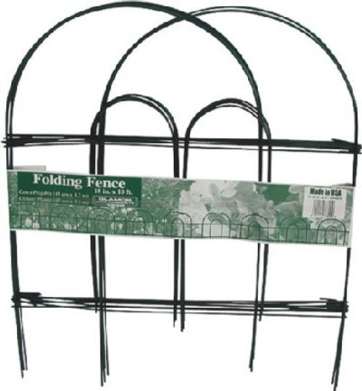"Garden Fence, 18"" X 10"", Green Wire"