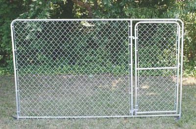 Kennel Gate Panel. 10' Long x 6' High, Galvanized