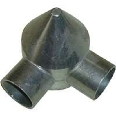 "Chain Link Fence Post 2-3/8"" Two Way Bullet Cap"