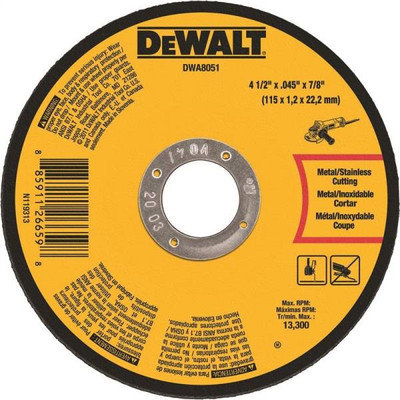 "Metal Cut Off Wheel 4.5"" X .045""  7/8"" Arbor"