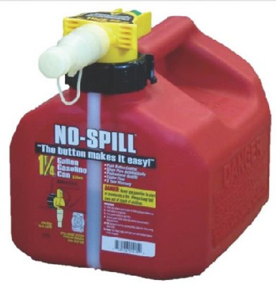 No Spill Model 1415 Gas Can, 1.25 Gal, Heavy Duty Plastic
