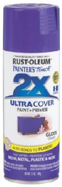Rustoluem Model 249113, Gloss Grape Spray Paint, 12 Oz
