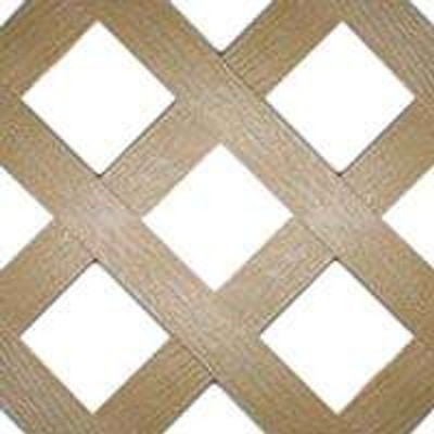 "Plastic Lattice Panel 24"" x 96"" Cedar"