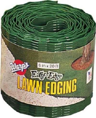 "Lawn Edging  6"" x 20'  Green Plastic"