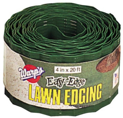 "Lawn Edging  4"" x 20'  Green Plastic"