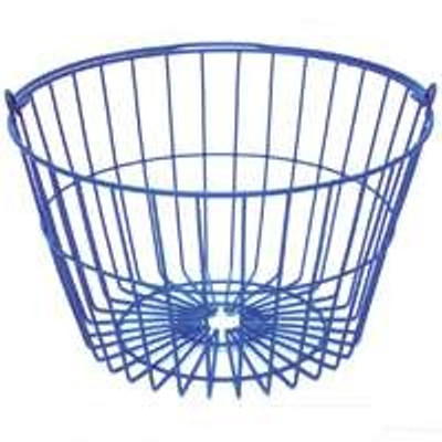 "Egg Basket - Plastic Coated 9"" H x 14.5"" Top Dia x 10"" Bottom"