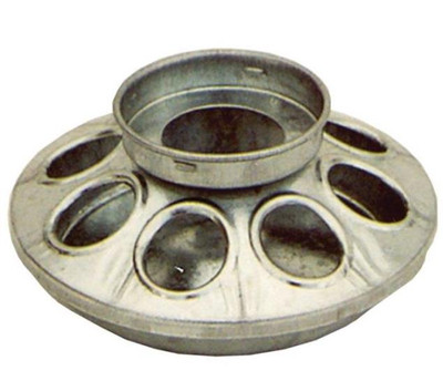 Poultry Feeder Base Galvanized