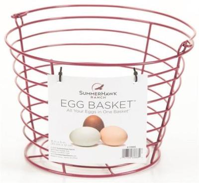 Egg Basket Large, Holds 3 Dozen Eggs, Red
