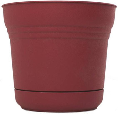 "Planter With Saucer, 5"" Union Red"