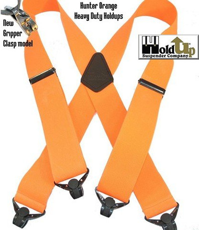 "Hold UP Outdoor Series, 2"" Wide, HUNTER ORANGE, Black Clips"
