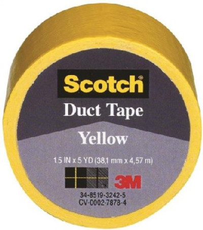 "Duct Tape, 1.5"" X 5 Yards, Yellow"