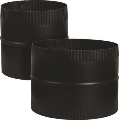 "Stove Pipe Blk 6"" Coupler 24Ga"