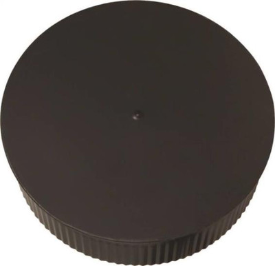 "Chimney Clean Out Plug 8"" Blk 24 Ga"