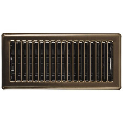 Floor Register, 2-1/4 in H x 12 in W, Steel, Brown
