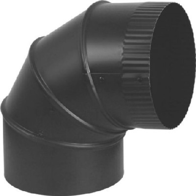 "Stove Pipe Black Elbow, 6"", 24 Ga, Adjustable"