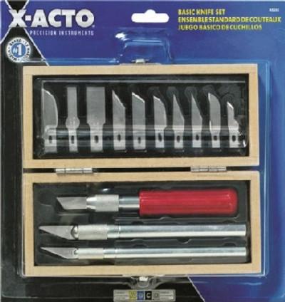 X-Acto X5282 Basic Utility Knife Set, 6-1/2 X 5-1/2 X 1-1/2 in Size